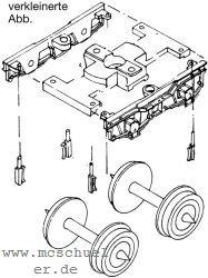1:87 H0e Drehgestellblenden für Weyer-Wagen, 14,3mm Achsabstand, 2 Stück - Weinert 9055  | günstig bestellen bei Weinert-Bauteile