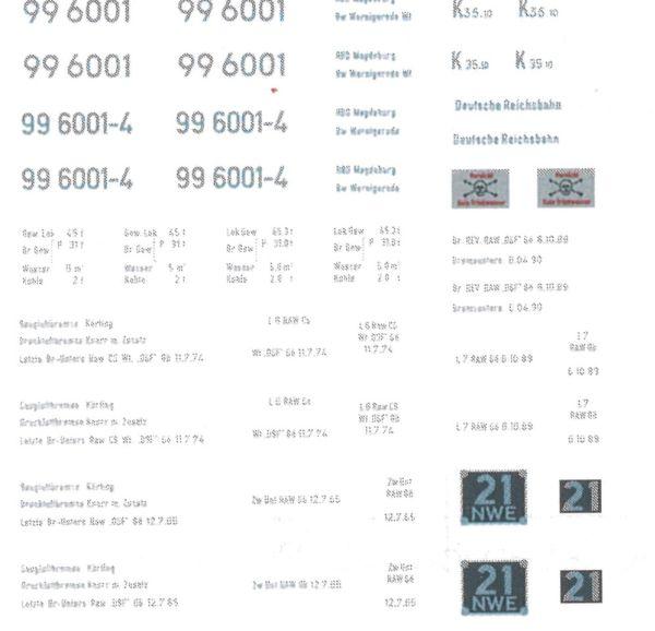 1:87 H0e-H0m Beschriftungsatz für HSB 1C1- Weinert 91006  | günstig bestellen bei Weinert-Bauteile