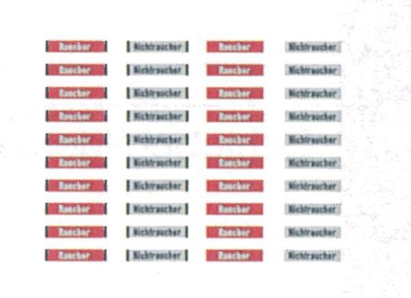 1:87 Beschriftung Raucher-Nichtraucher 1 Satz, Schiebebilder - Weinert 91011    günstig bestellen bei Weinert-Bauteile