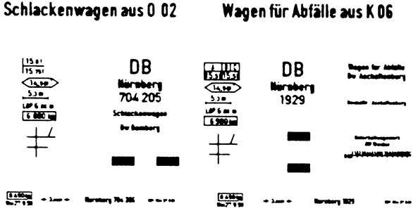 1:87 Beschriftung Schlackenwagen 1 Satz, Schiebebilder- Weinert 9141  | günstig bestellen bei Weinert-Bauteile