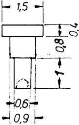 1:87 Nieten für Steuerungen 1,5 x 2,2mm, Ansatz 0,9x0,8mm 10 Stück - Weinert 9221  | günstig bestellen bei Weinert-Bauteile