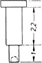 1:87 Nieten für Steuerung 1,5x3,6mm, Ansatz 0,9x2,2mm 10 Stück - Weinert 9223    günstig bestellen bei Weinert-Bauteile