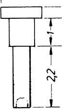 1:87 Nieten für Steuerung 1,5x3,6mm, Ansatz 0,9x1,0mm 10 Stück - Weinert 9224    günstig bestellen bei Weinert-Bauteile