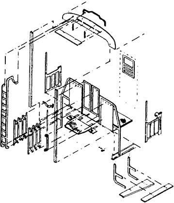 1:87 Übergangsbleche und Geländer für C3i bay 99a, 1 Satz- Weinert 9253 für Fleischmann 5002 | günstig bestellen bei Weinert-Bauteile