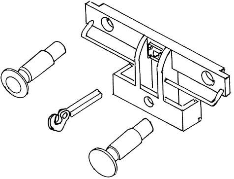 1:87 H0e-H0m Puffebohle für Schmalspur-Pufferwagen, mit 2 Federpuffern, d=5,2mm - Weinert 92705  | günstig bestellen bei Weinert-Bauteile