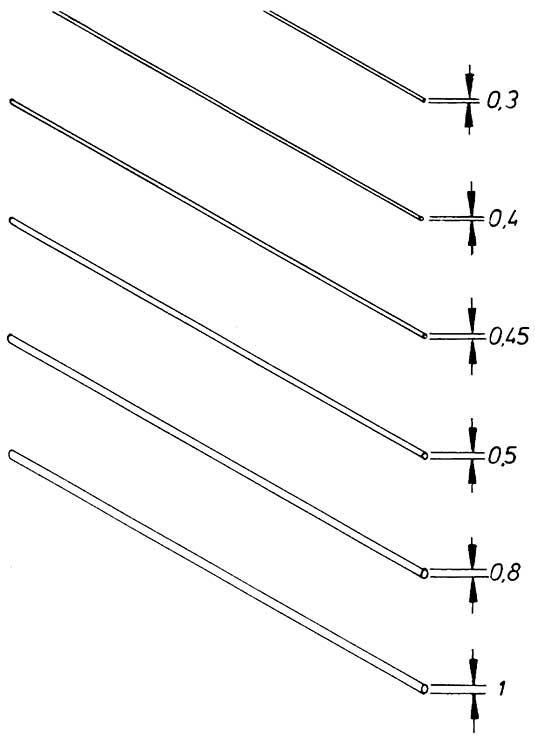 1:87 Messingdraht 0,8 x 160mm halbhart, gerade gerichtet 10 Stück - Weinert 9304  | günstig bestellen bei Weinert-Bauteile