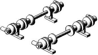Mehr Details und Kaufen von 1:87 Glockenisolatoren für Stromabnehmer SBS9 2 Paar - Weinert 95505  | günstig bestellen bei Weinert-Bauteile