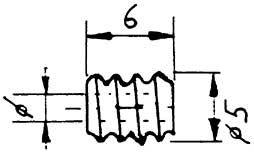 Schnecke, Modul 0,5, Bohrung 1,48mm, KS, 1 Stück-Weinert 9653  | günstig bestellen bei Weinert-Bauteile
