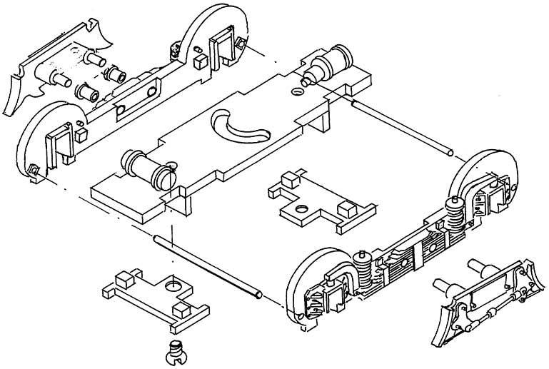 1:87 Vorlaufgestell P8 oder BR38 - Weinert 96964  | günstig bestellen bei Weinert-Bauteile