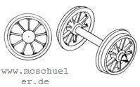 Brawa - RP25 Speichen-Radsätze d=11,5mm - Weinert 9716  - 2 Stück mit Spitzenweite 23,0mm | günstig bestellen bei Weinert-Bauteile