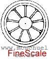 Mehr Details und Kaufen von Brawa - RP25 FineScale Speichen-Radsätze d=11,5mm - Weinert  - 2 Stück mit Spitzenweite 23,0mm | günstig bestellen bei Weinert-Bauteile