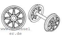 Piko - RP25 Speichen-Radsätze d=11,5mm - Weinert 9721  - 2 Stück mit Spitzenweite 24,5mm | günstig bestellen bei Weinert-Bauteile