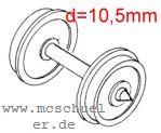 Roco - RP25 Scheiben-Radsätze d=9mm - Roco 40266  - 2 Stück mit Spitzenweite 24,5mm | günstig bestellen bei Weinert-Bauteile