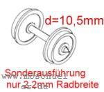 Mehr Details und Kaufen von Fleischmann RP25 FineScale Scheiben-Radsätze d=10,5mm - Weinert 2 Stück mit Spitzenweite 25,0mm | günstig bestellen bei Weinert-Bauteile