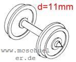 Roco - RP25 Scheiben-Radsätze d=11,0mm mit geteilter Achse - Roco 40267  - 2 Stück mit Spitzenweite 24,5mm | günstig bestellen bei Weinert-Bauteile