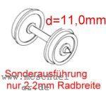 Fleischmann - RP25 FineScale Scheiben-Radsätze d=11,0mm - Weinert 2 Stück mit Spitzenweite 25,0mm - 2,2mm Radbreite | günstig bestellen bei Weinert-Bauteile