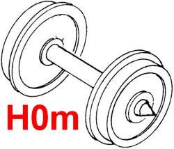 H0m Wagen Scheibenradsätze, 2 Stück-Weinert 9753  | günstig bestellen bei Weinert-Bauteile