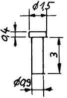 Kunststoffniet, d=1mm - Weinert 9885  | günstig bestellen bei Weinert-Bauteile