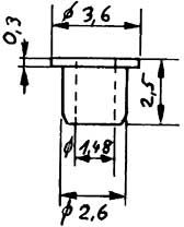 Isolierbuchse, d=1,48mm für Räder-Weinert 9886  | günstig bestellen bei Weinert-Bauteile
