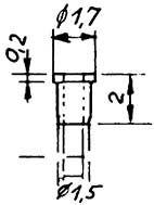 Isolierbuchse, d=0,98mm für Räder-Weinert 9888  | günstig bestellen bei Weinert-Bauteile
