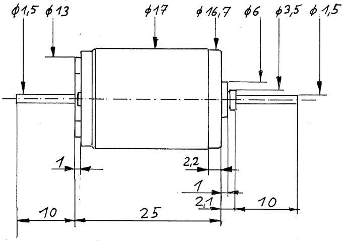 Faulhaber-Motor 1724 gewuchtet-Weinert 9908  | günstig bestellen bei Weinert-Bauteile