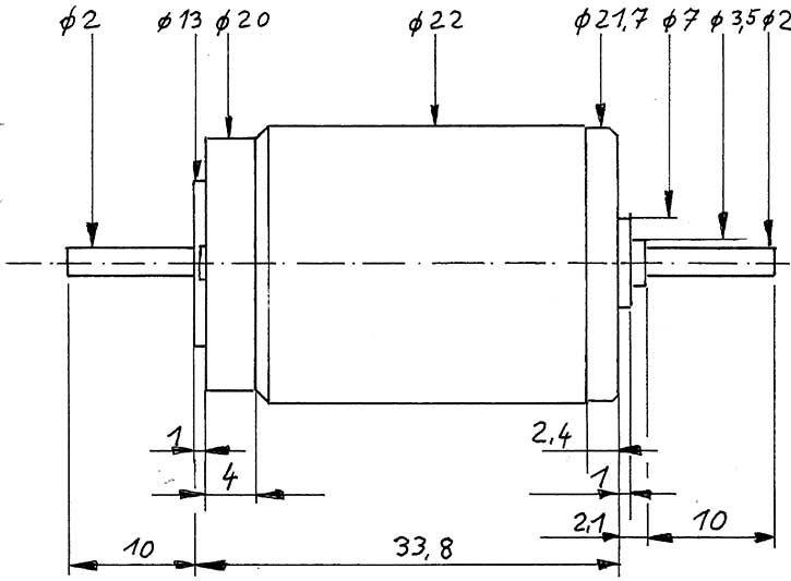 Mehr Details und Kaufen von Faulhaber-Motor 2233 gewuchtet-Weinert 9909  | günstig bestellen bei Weinert-Bauteile