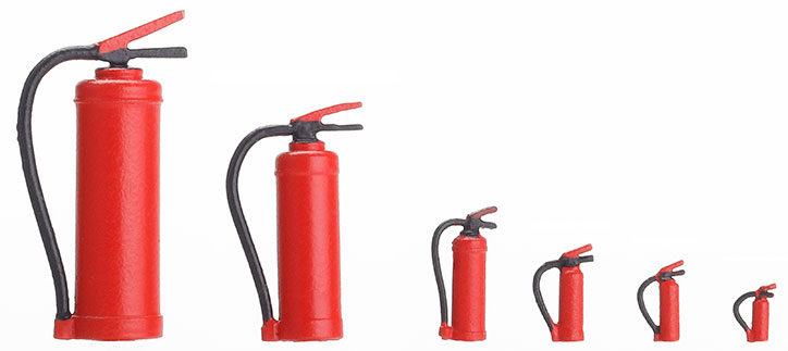 1:120 Feuerlöscher, 4 Stück - Weinert 58641  | günstig bestellen bei Weinert-Bauteile