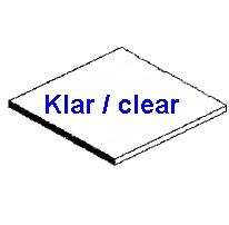 Platte klar 0,13 x 150 x 300mm - 3 Stück  - Evergreen KS  | günstig bestellen bei Weinert-Bauteile