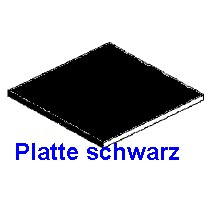 Platte schwarz 1,00 x 150 x 300mm - 2 Stück  - Evergreen KS  | günstig bestellen bei Weinert-Bauteile