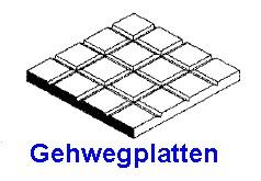 Gehwegplatten 1,00 x 150 x 300mm, mit Raster 1,60mm - 1 Stück - Evergreen KS  | günstig bestellen bei Weinert-Bauteile