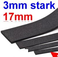 Schalldämmung Streifen 3mm stark, 17mm breit (Halb-H0), L=1000mm-Weinert 74231  | günstig bestellen bei Weinert-Bauteile