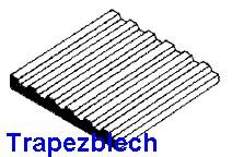 Blechdach mit stehender Naht 1,00 x 150 x 300mm -, mit Raster 3,20mm - - 1 Stück - Evergreen KS  | günstig bestellen bei Weinert-Bauteile