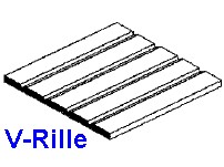 Platte V-Rille 0,5 x 150 x 300mm, mit Raster 0,64mm - 1 Stück - Evergreen KS  | günstig bestellen bei Weinert-Bauteile