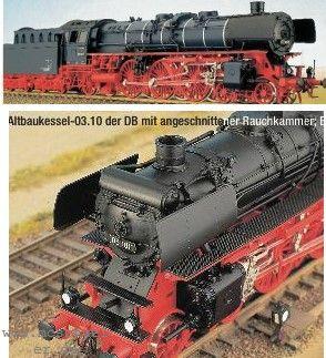 Mehr Details und Kaufen von H0 DB BR 03.10 Altbau-Kessel u. angeschnittene Rauchkammer - Weinert Ausführung mit NEM-Radsätzen | günstig bestellen bei Weinert-Bauteile