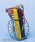 Spur 0 Schweißgerätewagen mit Flasche, Armaturen, und Schweissgerät, Bausatz - Weinert 2543