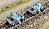 H0m Rollbock der Harzquerbahn, alte Ausführung, 1 Paar - Weinert 6258   - Bausatz