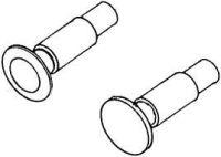 1:87 Federpuffer je 2 x flach und gewölbt, d=5,2mm, ohne Sockelplatte, - Weinert 86001