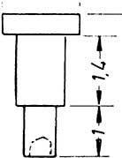 1:87 Nieten für Steuerungen 1,5x2,8mm, Ansatz 0,9x1,4mm 10 Stück - Weinert 9222  | günstig bestellen bei Weinert-Bauteile